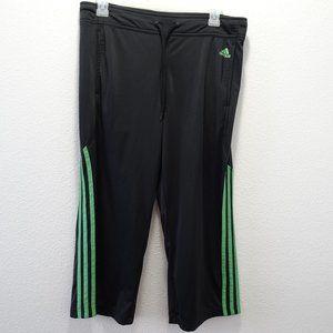🌵 Adidas Athletic Crop Track Pants Medium Black